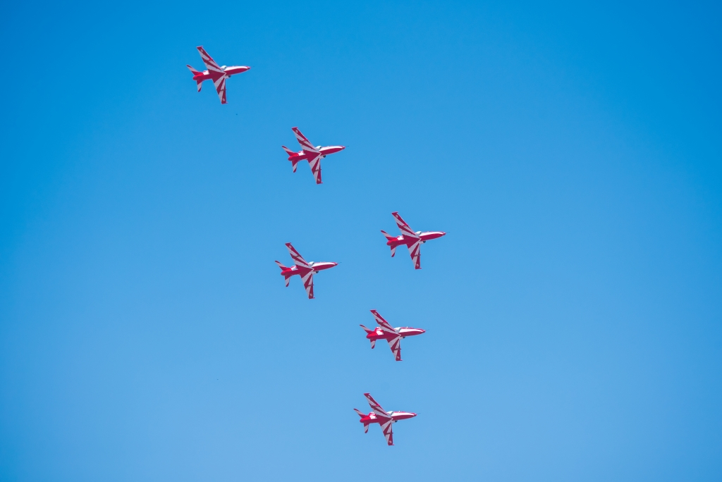 Surya Kiran Formation In AirShow