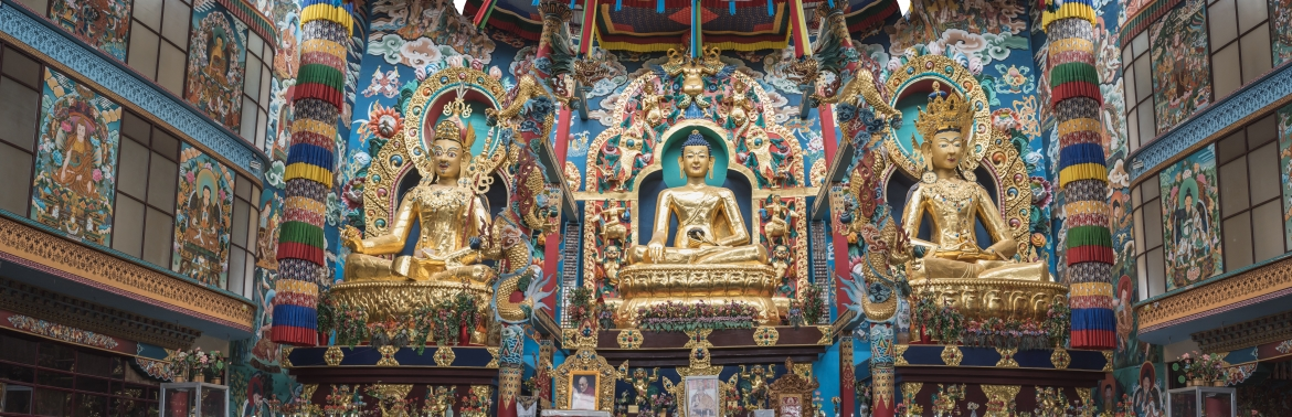 The Three Captivating Golden Statues