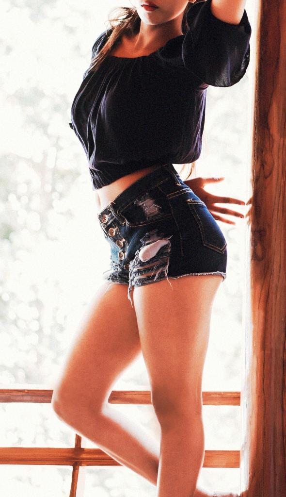 High Fashion Girl Posing Sexy