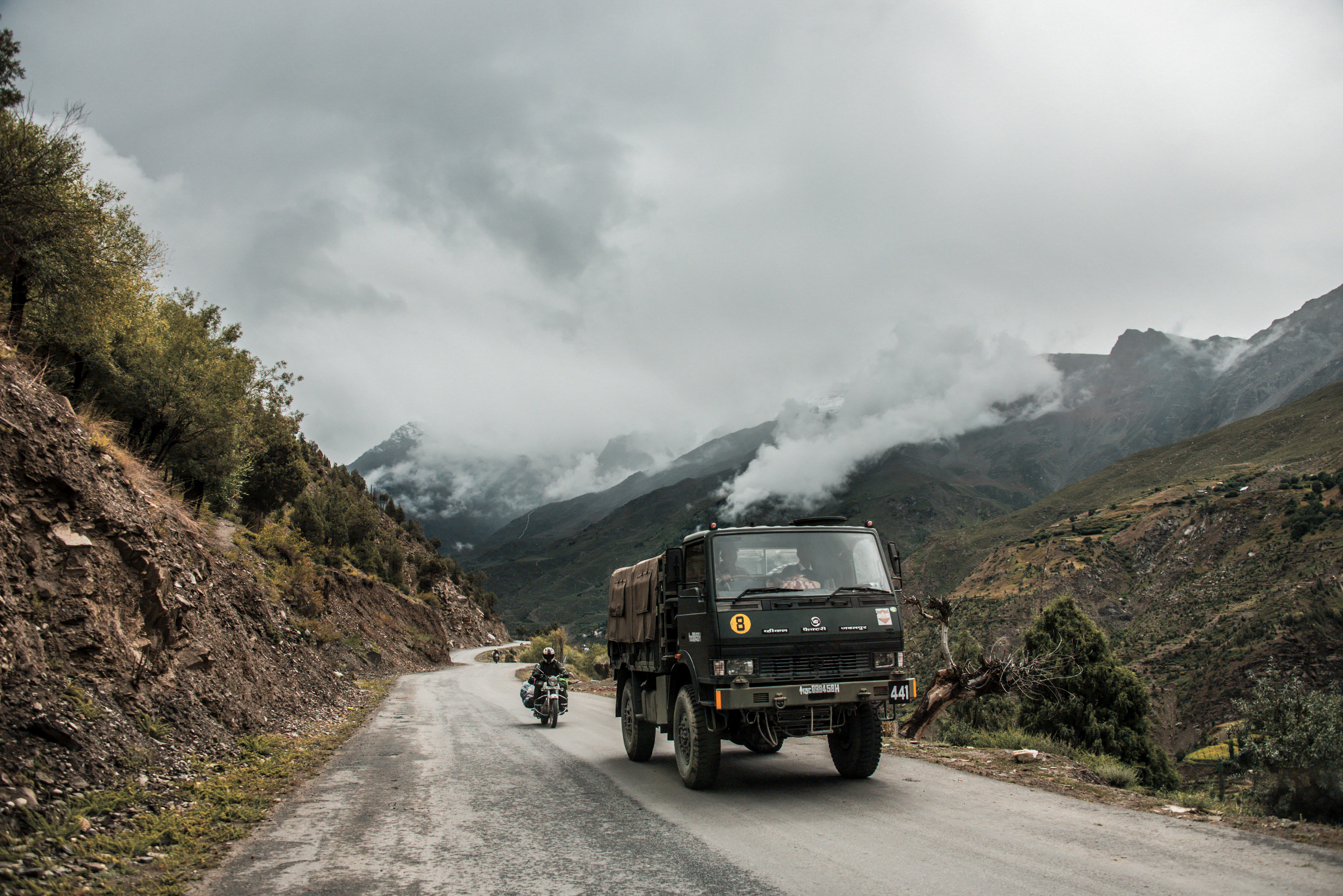 Indian Army Truck Leads The Way At Ladakh