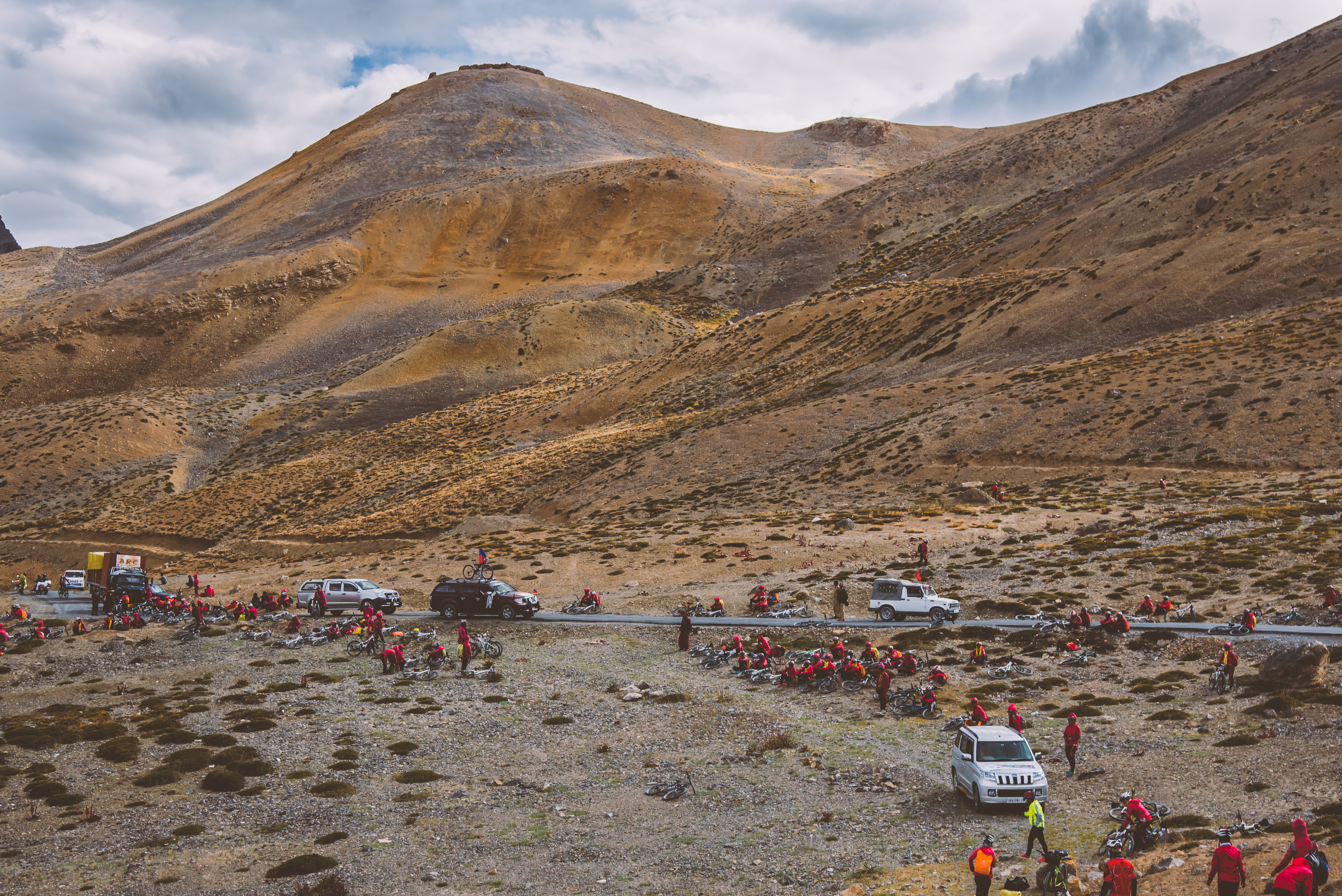 Mountain Bikers Camping After a Long Ride