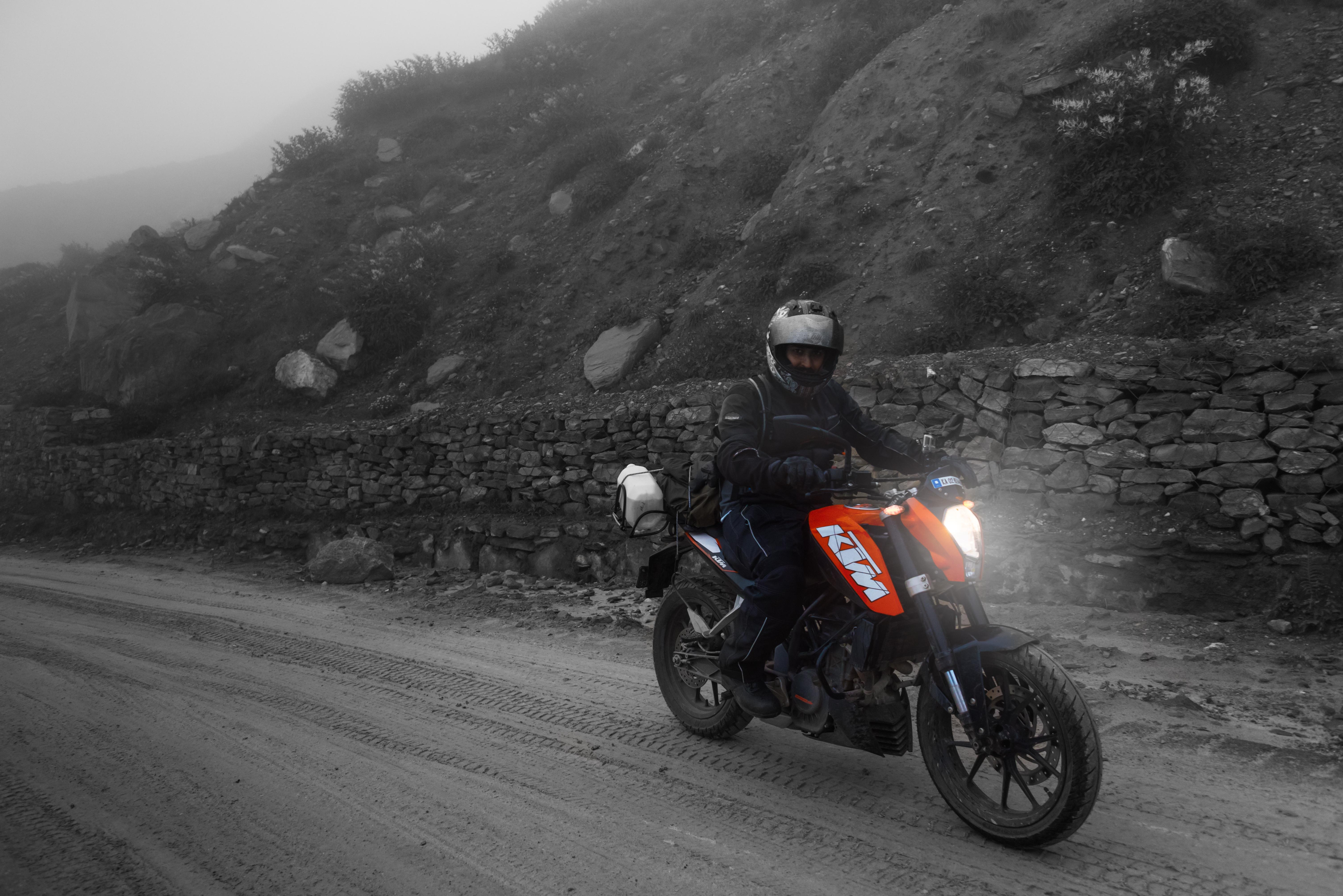 KTM Rider En Route To Ladakh