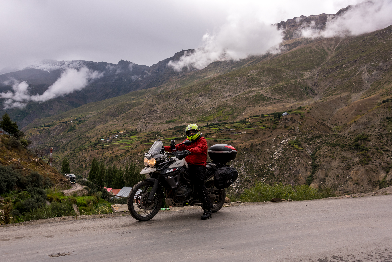 Triumph Tiger Biking Through Ladakh