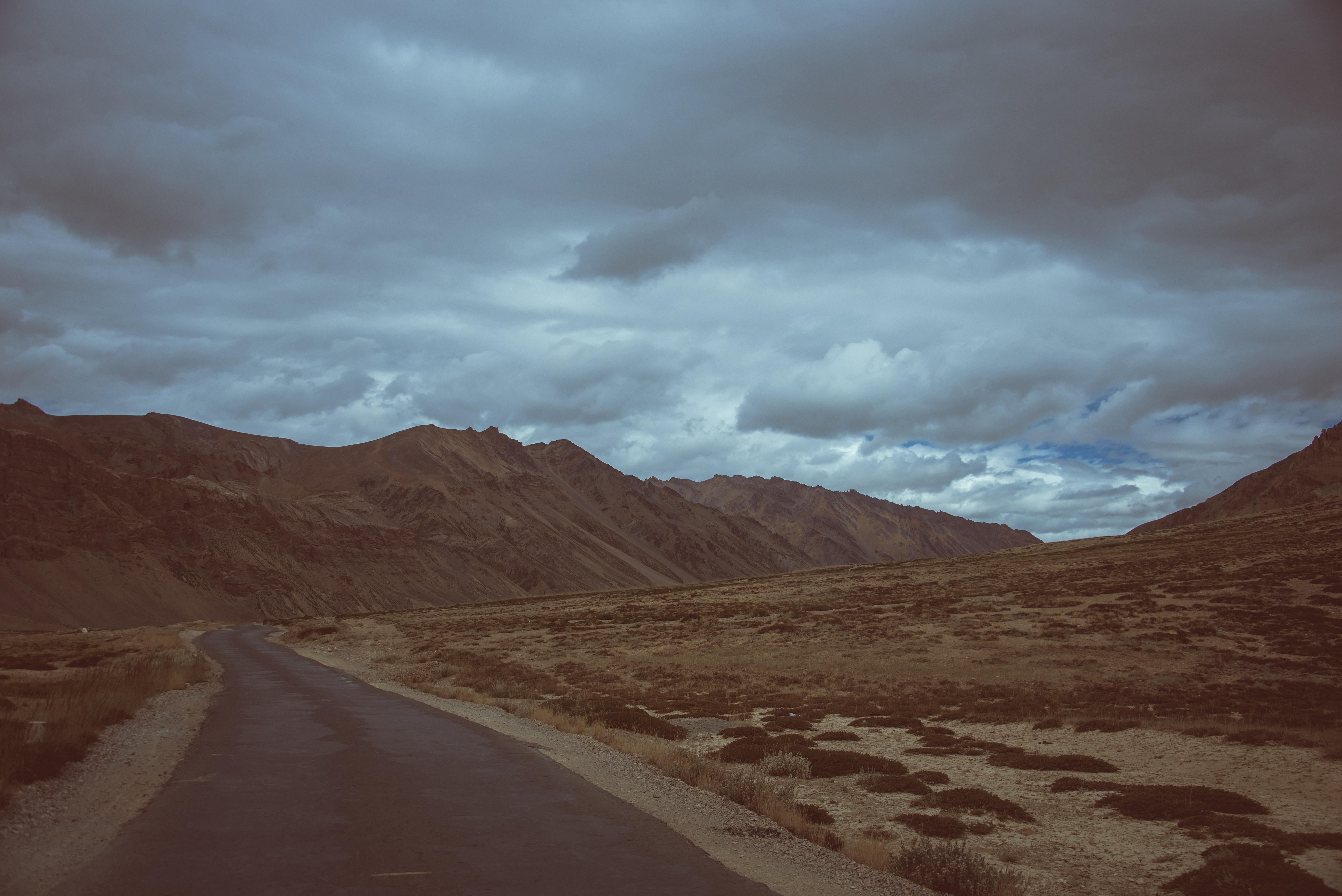 An Empty Road In The Ladakh Region