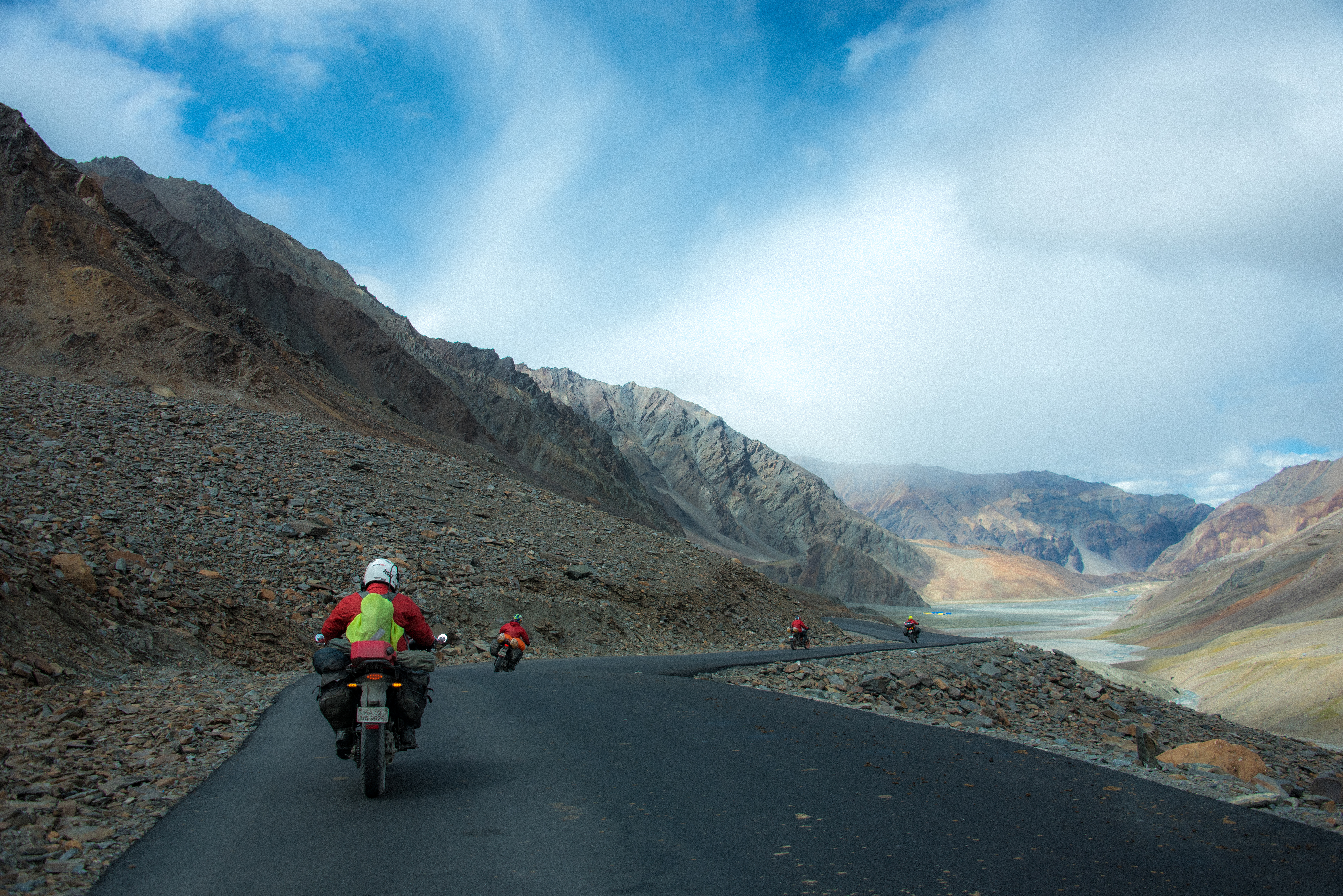 Bikers Enjoying The Dreamy Landscapes Of Himalayas