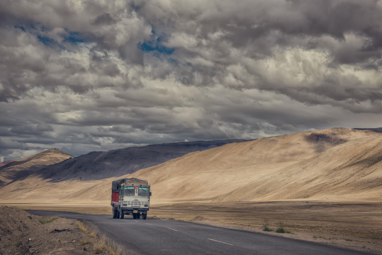 Goods Carrier On The Ladakh Road
