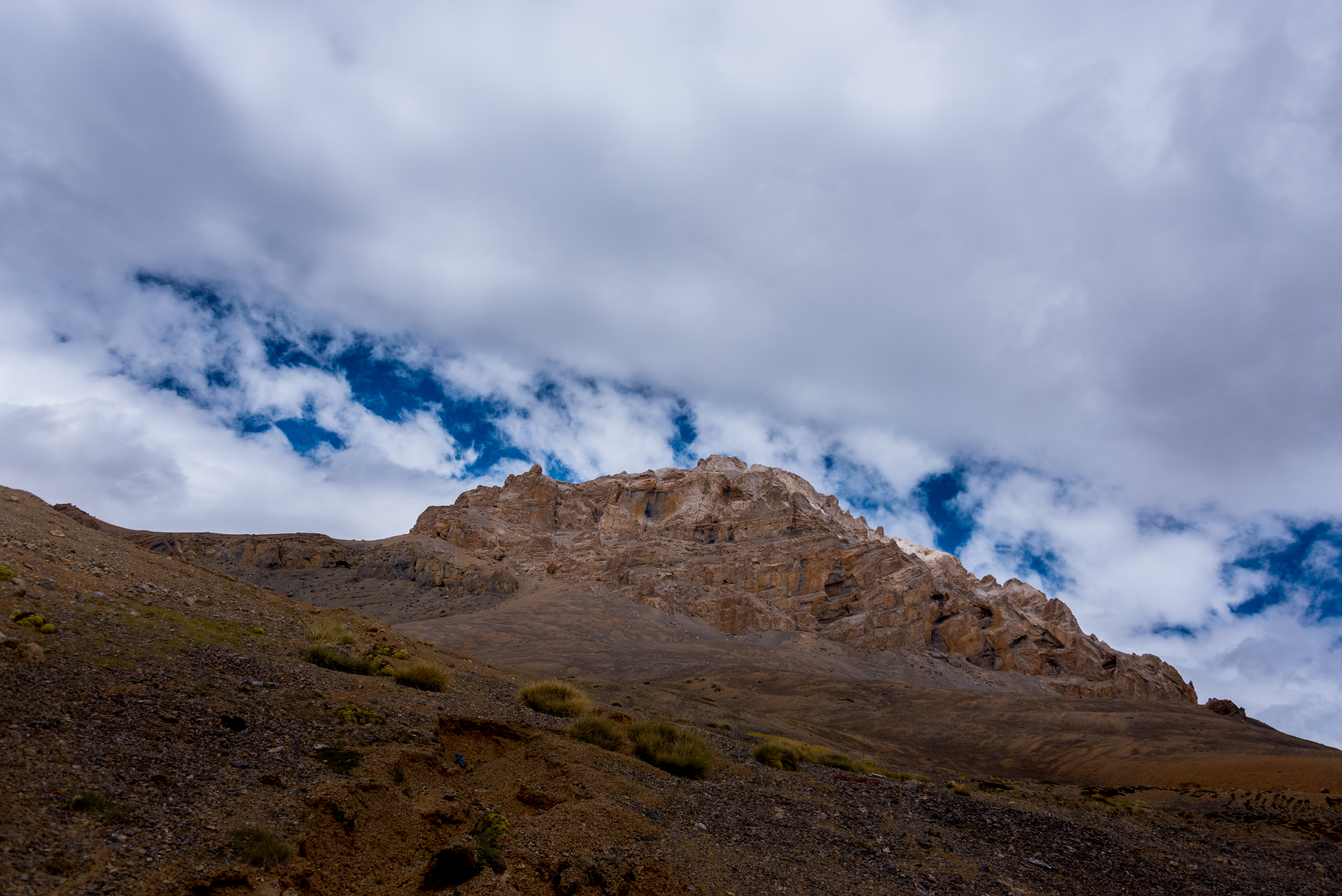 Hill Kissing Clouds In Ladakh Region