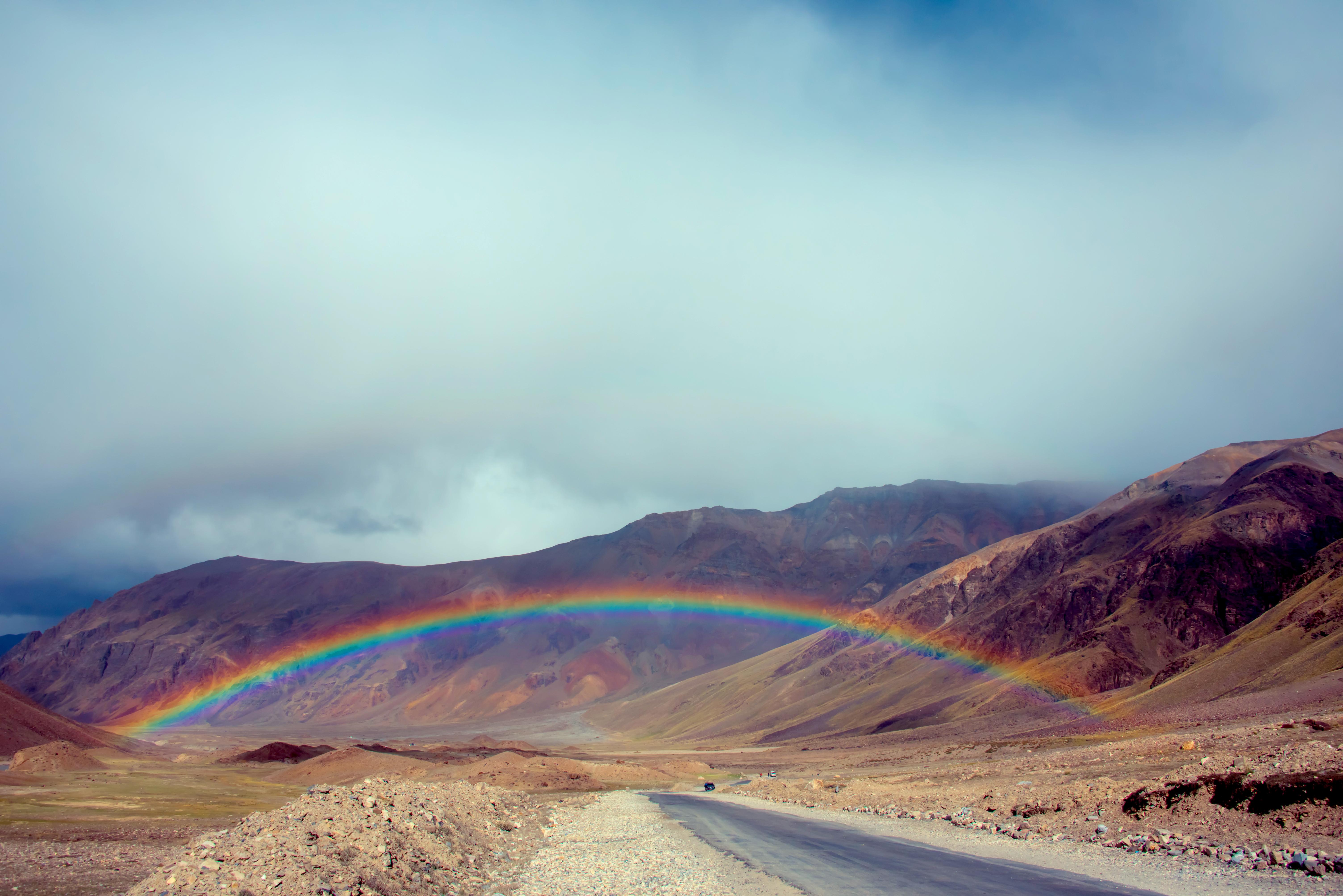Rainbow Entrance To Spiritual Himalayas