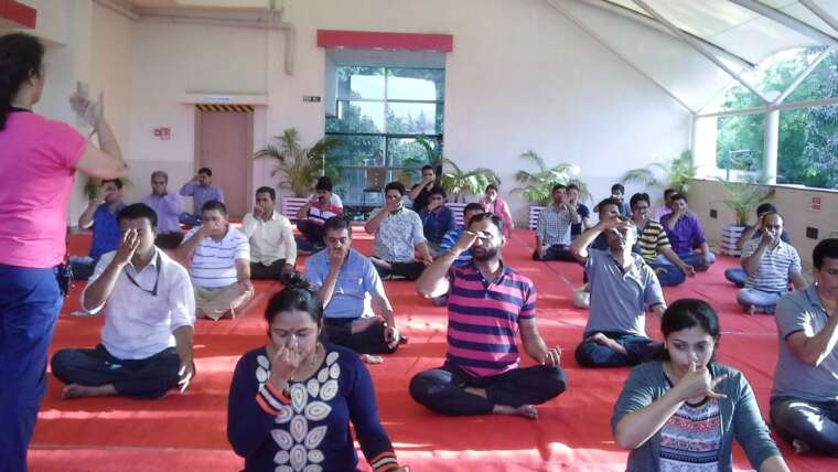 Corporate yoga classes