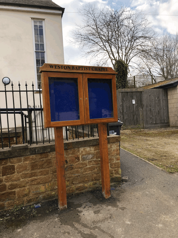 church notice board oak
