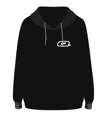 Quantum Hoodie black front render