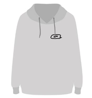 Quantum hoodie grey front render