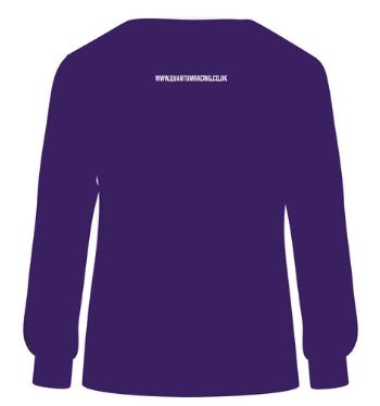 Quantum sweatshirt purple back render