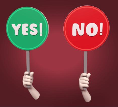 Don't be afraid to say no