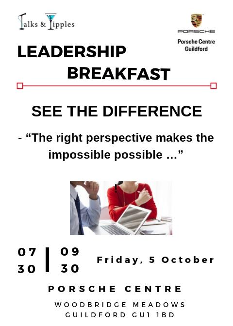 Leadership Breakfast - Guildford October 2018
