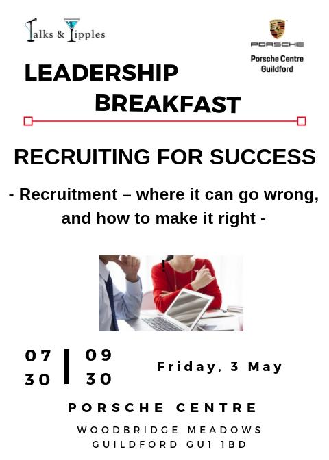 Leadership Breakfast - Guildford May 2019