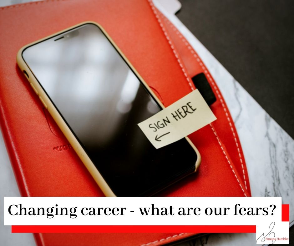 Changing Careers - Sign here sticker