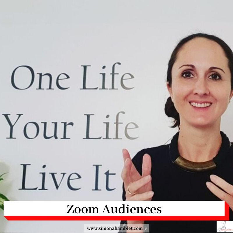 Simona Hamblet with the title Zoom Audiences