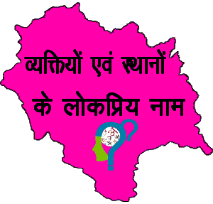 Popular names of people and places of Himachal