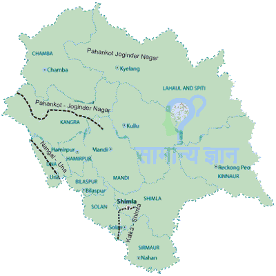 Railway Map of Himachal Pradesh