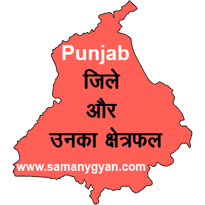 districts of punjab and their area