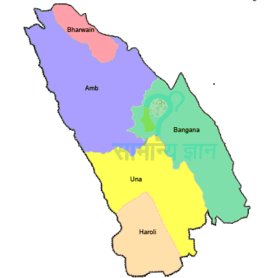 una himachal pradesh map