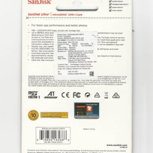 SanDisk 64GB Class 10 microSDXC Memory Card (SDSQUAR-064G-G061N)