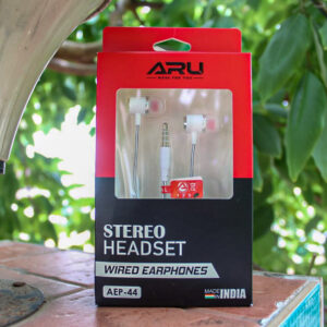 ARU AEP-44 Universal in Ear Headset with Mic – White