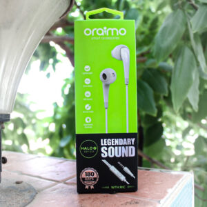 oraimo Halo-S Legendary Sound Reinforce Cable Half-in-Ear Wired Earphones with Remote Control & Mic