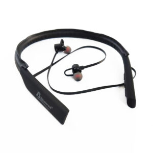 Bhajwad Bluetooth BT-10 30Hours Music Time Leather Wireless Headset Bluetooth Headset(Black color)