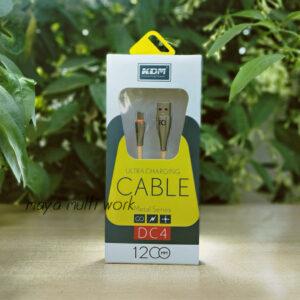 KDM DC4 1200MM 3.4A Type-C USB  Metal Cable (Orange color)