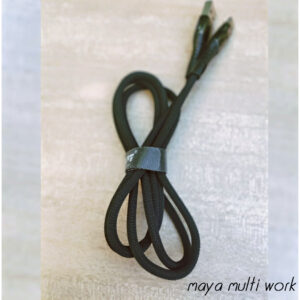 KDM K8 1000MM 3.4A Type-C USB  Metal Cable (black color)