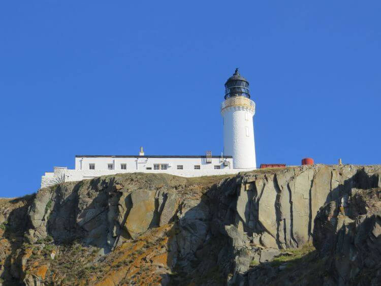 Luce Bay, Mull of Galloway Lighthouse. Onyermarks Evening wildlife and fishing trips.