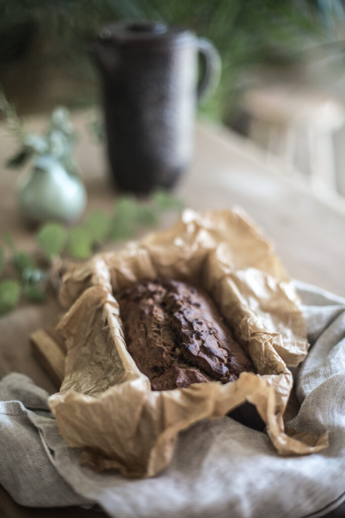 Gluten-free, sugar-free cocoa banana bread. The best organic recipe you'll ever need!