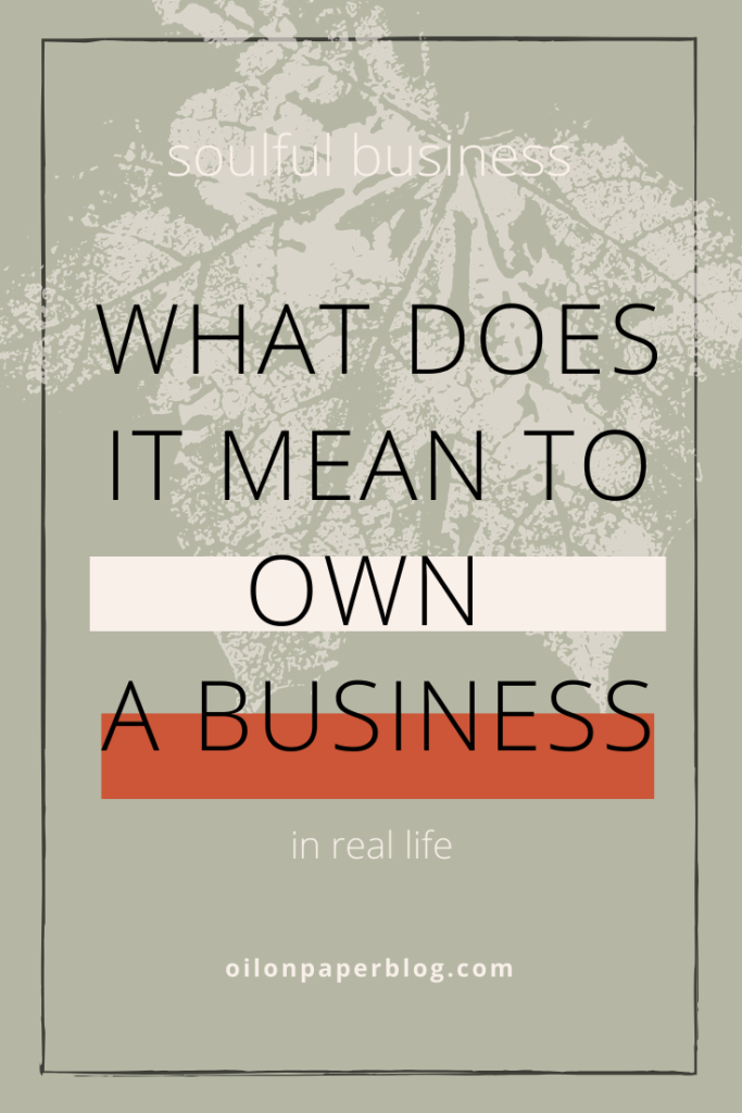 What does it mean to own a business