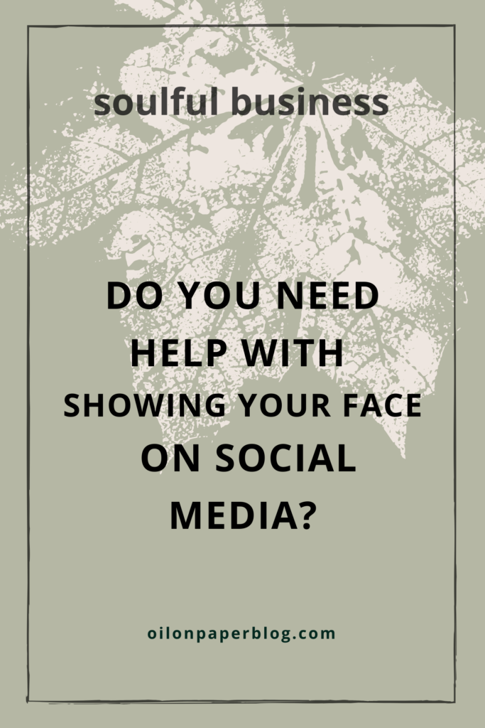 So you need help with showing your face on social media