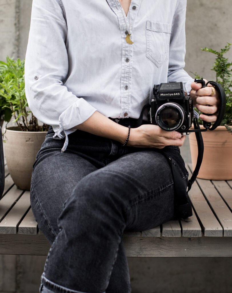 Quitting Instagram to grow my online business girl with a mamiya camera marina cosic photography soulful business educator