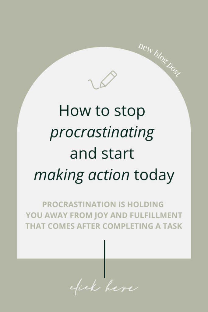 Oil on paper blog Marina Ćosić How to stop procrastinating and start making action creative living personal growth creative business Pinterest graphic