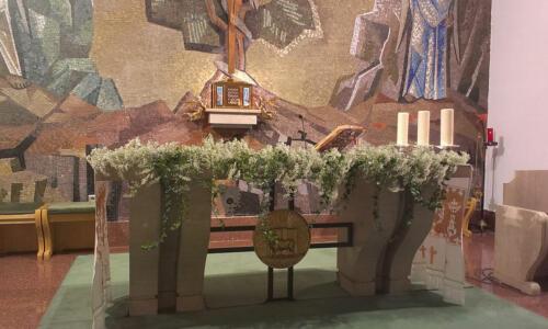 Altar boda flores