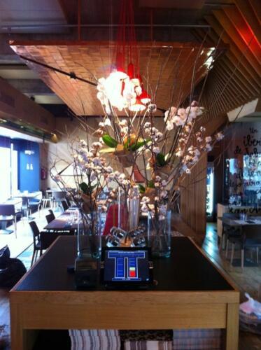 Arreglo floral restaurante