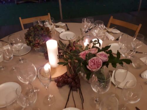 Mesa Banquete con velas