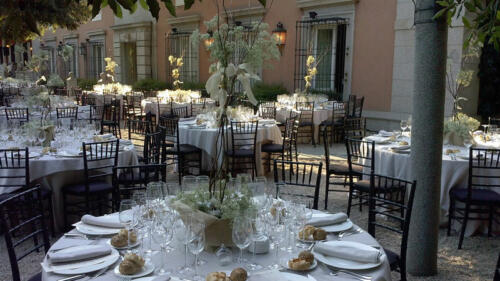 Banquete centro flores