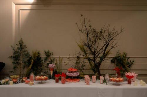 Banquete con flores
