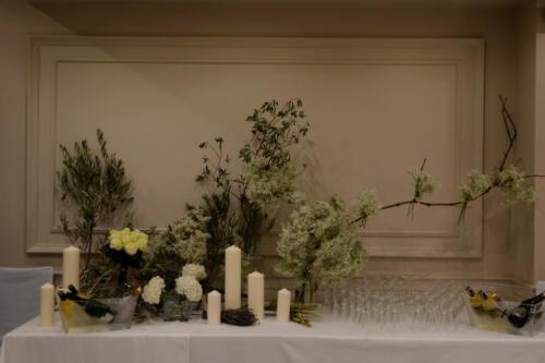 Baquete flores velas