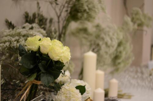 Boda flores iglesia