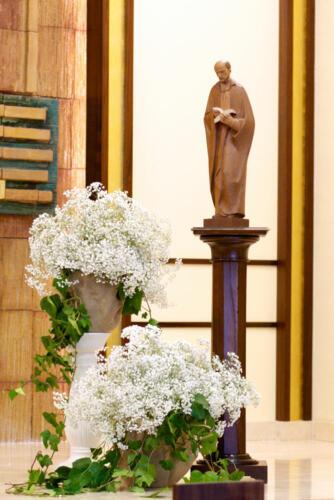 Boda flores misa