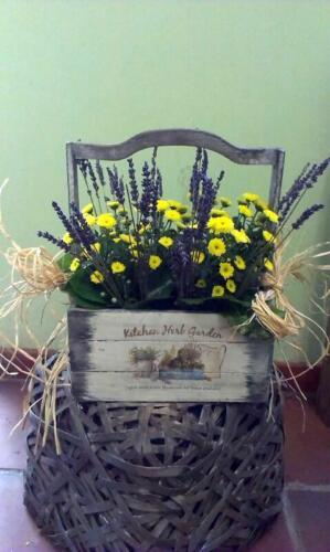 Centro floral amarillo