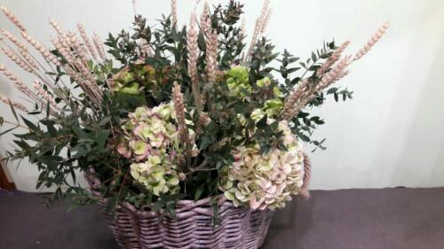 Centro floral espigas
