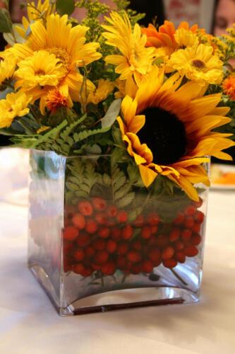 Centro floral girasoles