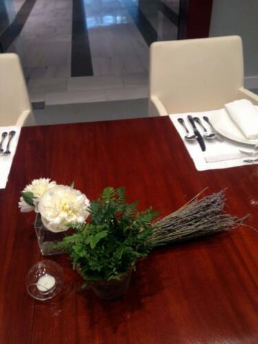 Centro floral mesas empresas